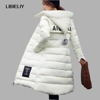 Nice New Winter Jacket Women Hooded Thicken Coat Female Fashion Warm Outwear Cotton Padded Long Wadded