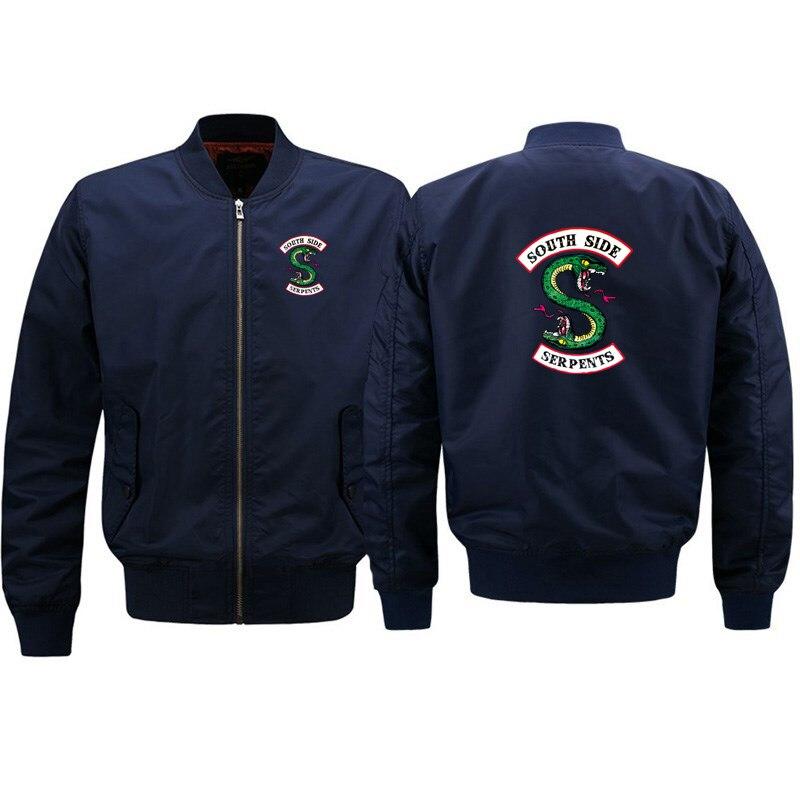 2019 New South Side Serpents Ma1 Bomber jacket coat Hip hop Streetwear Autumn Spring jackets Men fashion Riverdale jacket man