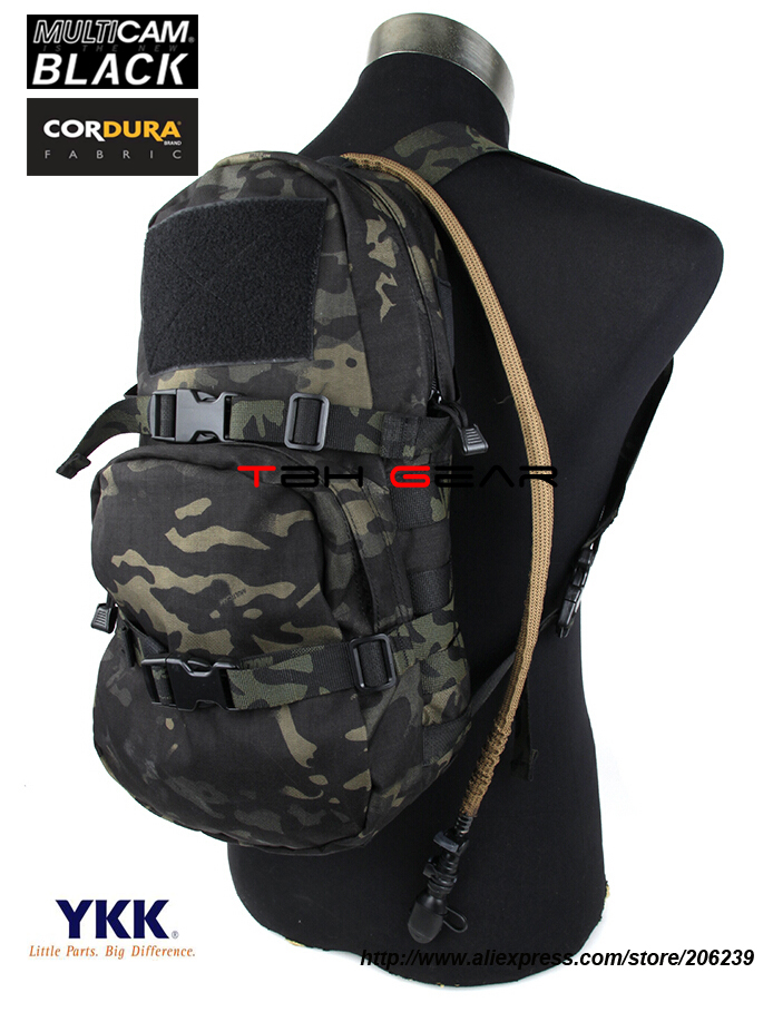 TMC MOLLE Modular Assault Pack 3L Hydration Bag Multicam Black Hydration Backpack Water Bag+Free shipping(SKU12050043) tmc lbt 6142 27oz molle tactical hydration pouch multicam tropic modular source hydration bag free shipping sku12050204