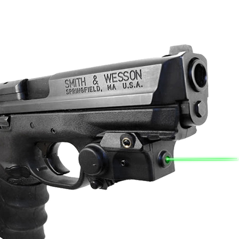 Pistol Railed Green Laser Sight Compact Mini Mountable Guns And Weapons Army Self Defense Laser For Glock 17 19