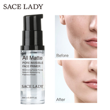 SACE LADY Face Makeup Primer Liquid Matte Make Up Fine Lines Oil-control Facial Cream Brighten Foundation Primer Cosmetic sace lady blur primer makeup base face 24k gold foundation primer oil control professional matte make up pores brand cosmetic