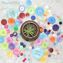 50pcs Large,Medium, Small, and Mixed Colored Resin Buttons DIY Handmade Button Crafts Clothing Sewing Accessories