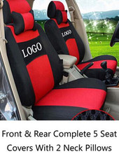 Car Seat Covers Front&Rear Complete 5 For  VW Polo Audi A4 A5 BMW 3 Mercedes Benz Mazda6 Honda Buick Toyota