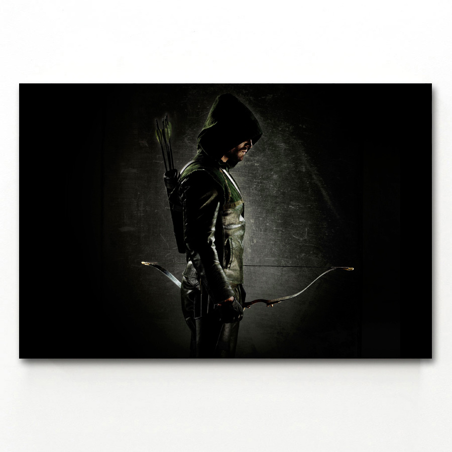 Art The Arrow Superheroes TV Series Print Canvas Fabric Poster 1381