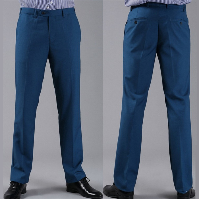 Мужские костюмные брюки модные свадебные формальные 12 цветов повседневные брюки известный бренд блейзер брюки Деловое платье брюки CBJ-H0284 - Цвет: slim diamond blue