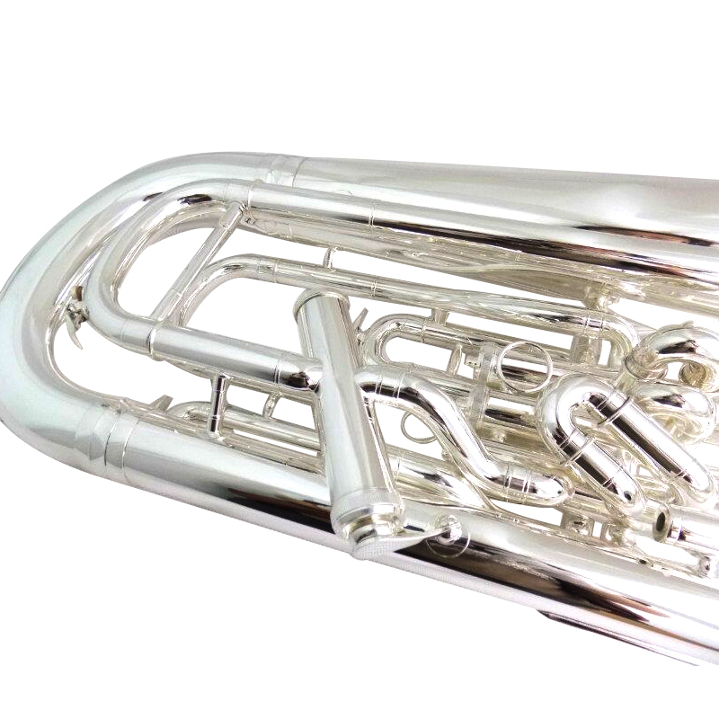 Купить с кэшбэком Bb Euphonium Compensating System Silver Plated euphonium horns 3+1 piston musical instruments