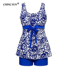 CHINGYUN Sexy printing Bare back vest Skirt Swimwear Women One Piece Swimsuit Beachwear Bathing suit Swimwear dress Plus size 2018 new plus size plaid skirt bathing suit swimwear sexy women underwire summer swimsuit womens swimming dress beachwear