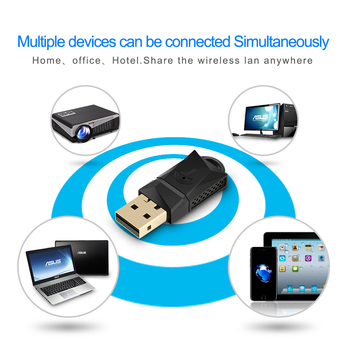 150/300/600Mbps Wireless USB WiFi Adapter Dual Band 2.4 + 5 GHz WiFi Dongle 802.11a/g/n/ac 4
