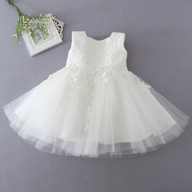 Ivory Tulle Lace Flower Girl Dress 6