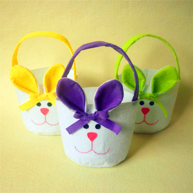 3pcs easter bunny candy bags rabbit bags easter baskets for kids 3pcs easter bunny candy bags rabbit bags easter baskets for kids gifts festival new year craft negle Images