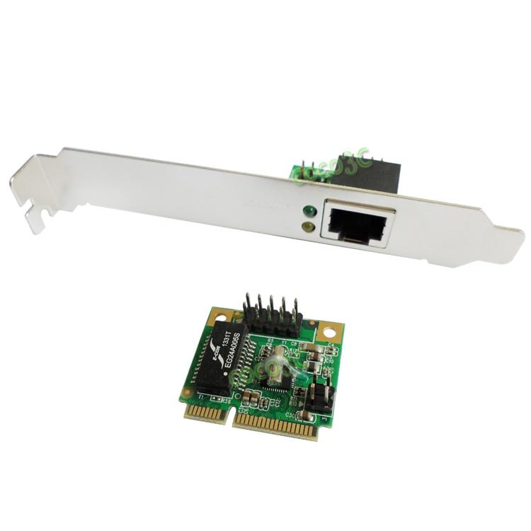 Mini carte réseau PCIe Gigabit Ethernet mini PCI express vers adaptateur de Port RJ45 10/100/1000 contrôleur réseau LAN base-t