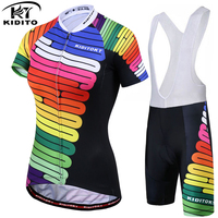 KIDITOKT 2018 Women Summer Breathable Pro Cycling Jerseys Set Quick Dry Bicycle Clothes Ropa Maillot Ciclismo