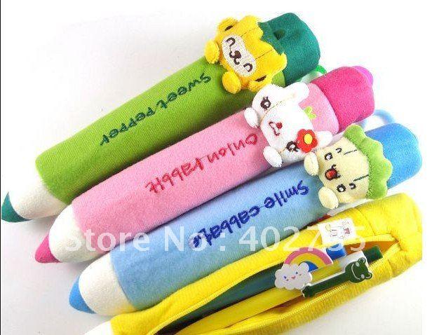 ; 12 шт. Южная Корея обучения канцелярские мультфильм карандаш, ручка, сумка творческий плюшевые мешок ручки