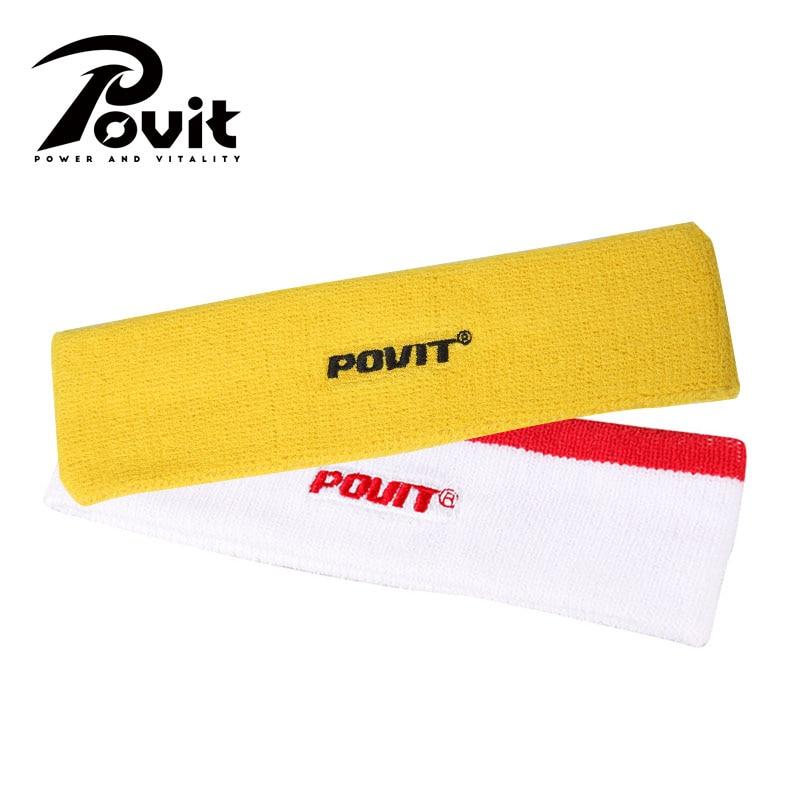 POVIT 1Pcs Nylon Sweatband Outdoor Headband Running Badminton Tennis Men Overgrip Women Yoga Gym Fitness Sport Stretch Hair Band