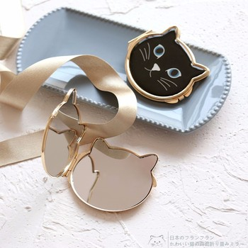 Lovely Cat Makeup Compact Mirror Pocket Cosmetic Mirror Hand Mirror Dropshipping Wholesale 2