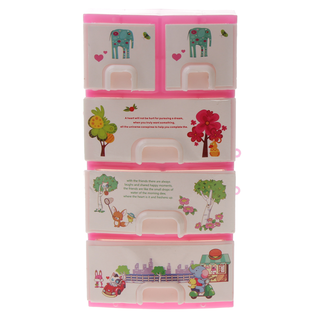 New Mini Pink Dollhouse Drawer Wardrobe Bedroom Furniture ...