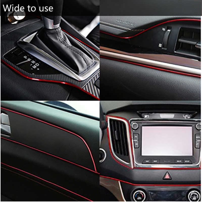 Mobil Dekorasi Interior Strip Moulding Trim Dashboard Pintu Edge untuk Opel Zafira B Vauxhall Zafira Corsa C Cambo D vauxhall