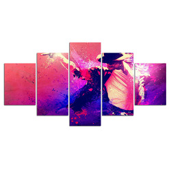 5 Panels Michael Jackson Singer Pop music Canvas Painting Print Painting On Canvas Wall Art modular pictures Home Decor
