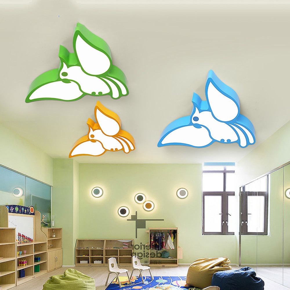 Попугай из мультфильма детская потолочный светильник светодиодный Творческий океан зал pet shop лампа детский сад бассейн спальня лампы LU8111420