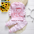 New Spring Autumn Kids Cartoon Pijamas Baby boy girl Sleepwear Cotton Clothes Sets T-shirt +pants 2 pieces Baby Nightwear MF0229