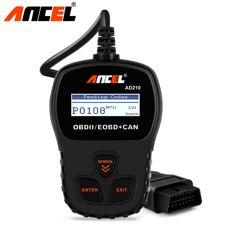 Ancel AD210 OBD2 Scanner Auto OBD Scanner Car Diagnostic OBD 2 Scan Tool For VAG BMW Mercedes Audi Toyata OBD Automotive Scanner пищурова т 30 дней комы isbn 9785600015746
