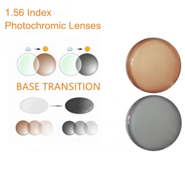 b0110f35cb 1.56 Index Prescription Photochromic Lenses Transition Grey Brown Lenses for  Myopia Hyperopia Anti Glare Sunglasses Lens O156