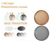 1.56 Indice Prescrizione Lenti Fotocromatiche Transizione Grigio Marrone Lenti per Miopia/Ipermetropia Anti Glare Occhiali Da Sole Lente O156