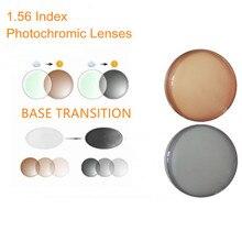 1.56 מדד מרשם עדשות Photochromic מעבר אפור חום עדשות לקוצר ראייה/רוחק אנטי בוהק משקפי שמש עדשת O156