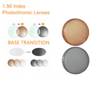 Image 1 - 1.56 מדד מרשם עדשות Photochromic מעבר אפור חום עדשות לקוצר ראייה/רוחק אנטי בוהק משקפי שמש עדשת O156