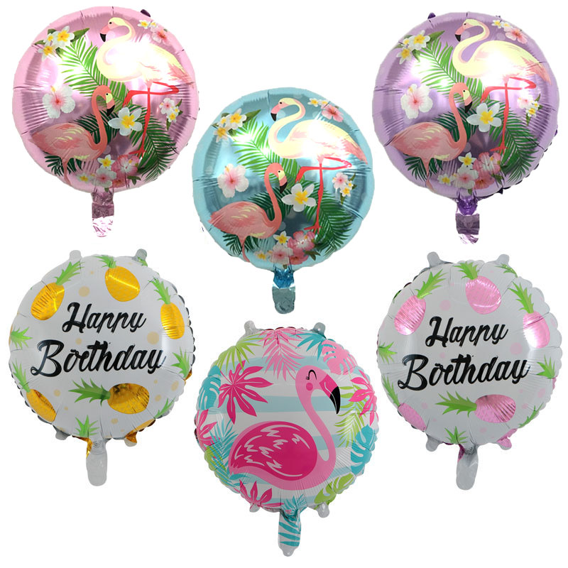10pcs New 18-inch Round Happy Birthday Helium Foil Balloons Holiday Party Decoration Balloon Toys For Children Globos Wholesale Ballons & Accessories Event & Party