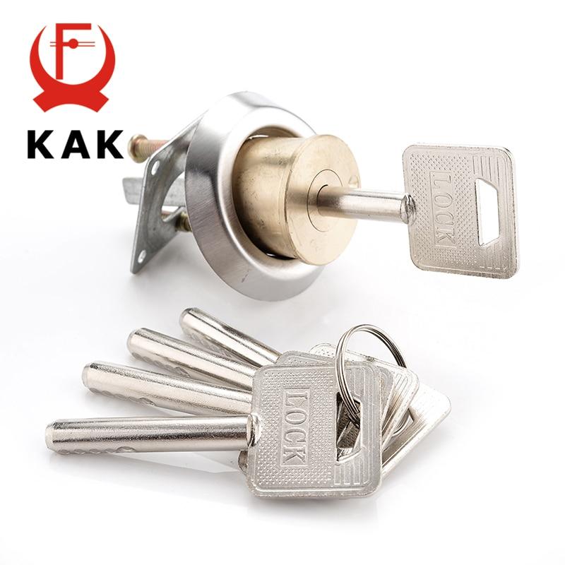 KAK Entrance Door Lock Cylinder Brass Copper Core With Smart Keys For Home Gate Furniture Hardware naierdi entrance door lock cylinder brass copper core with smart keys for home gate furniture hardware