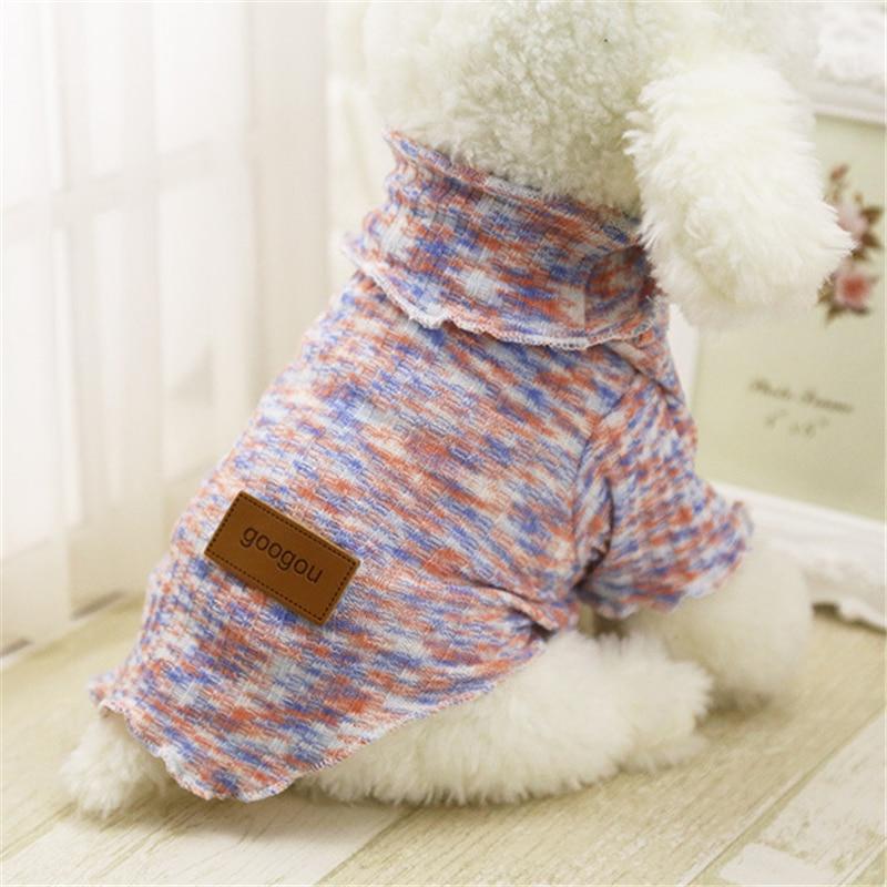 Perro de mascota Cachorro Ropa para Perros Pequeños de Primavera Chaquetas de la