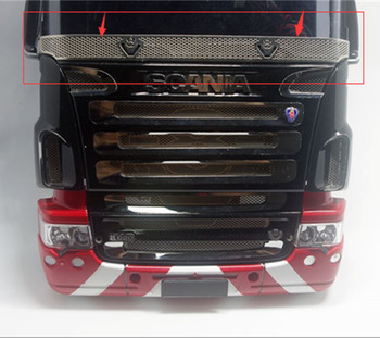 цена на R/C scania truck front window decorative protective mesh for tamiya 1/14th scale rc scania r620 56323 r470 tractor trailer truck