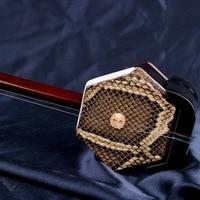 New hot selling erhu Chinese dunhuang musical instruments ebony madeira china erhu bow Two strings Chinese violin