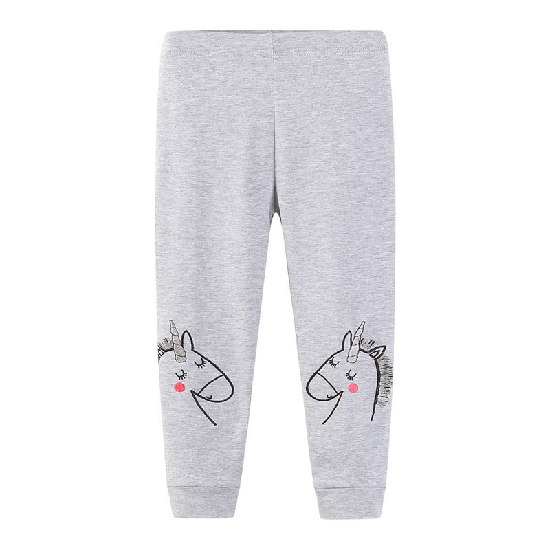 цена Jumping meters Girls legging pants autumn brand children clothes cotton knitted baby girl leggings pants baby girls trousers