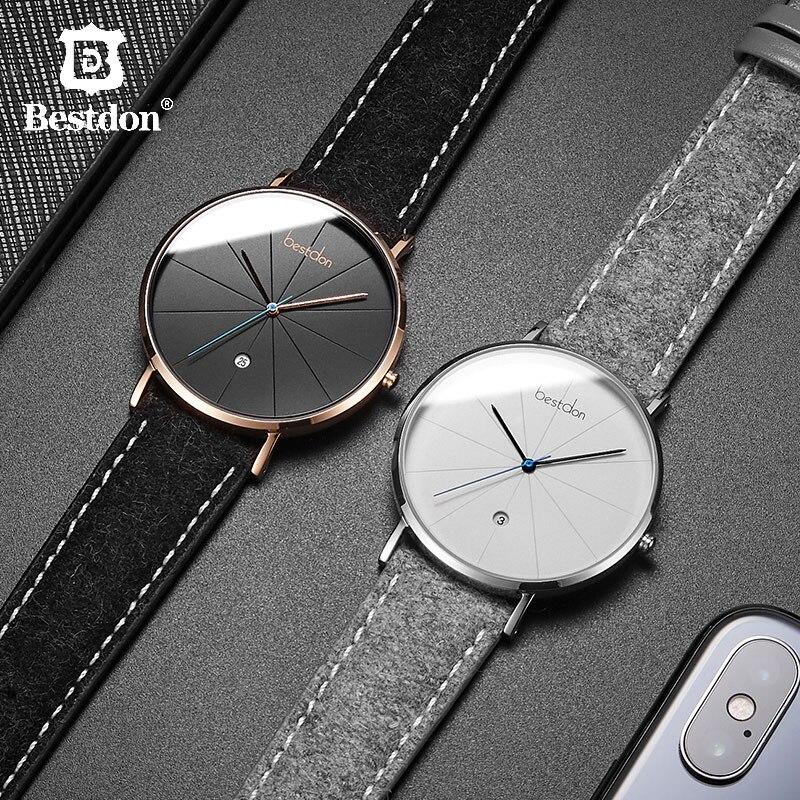 Bestdon 간단한 남성 시계 톱 브랜드 럭셔리 방수 석영 손목 시계 클래식 긱 미니멀리스트 남성 시계 선물 남자-에서수정 시계부터 시계 의  그룹 1