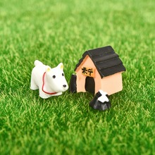 3PCS Set Resin Model Dog World Ornaments Miniature Resin Craft Figurines Miniatures home decoration accessories