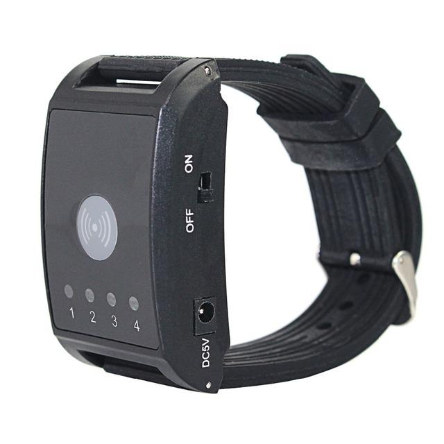Relógio de 433 MHz 4 Canais Sem Fio Receptor Chamando Restaurante Sistema de Pager para Garçom Pager Hospital Enfermeira Chamada F4411A