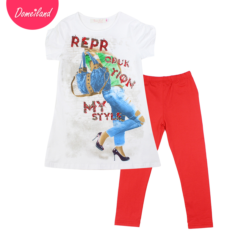 2017 fashion brand domeiland summer girl clothing outfits cute baby kids cotton 3d short sleeved shirts childeren legging set 2017 fashion brand domeiland summer children clothing for kids girl short sleeve print floral cotton tee shirts tops clothes