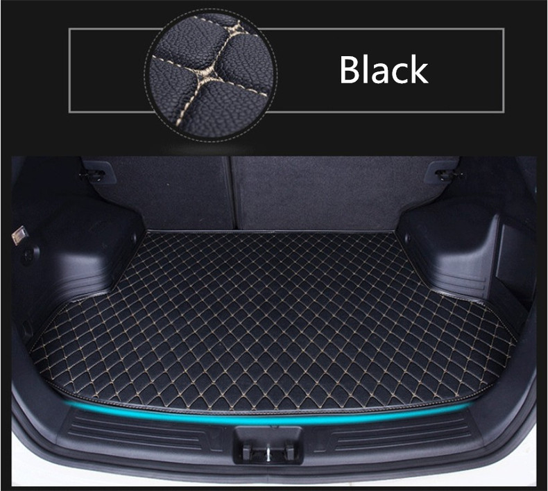 Auto Cargo Liner Trunk Mats For Audi A3 S3 Limousine 2014 2015 2016 2017 Car Boot Mat High Quality Brand New Embroidery Leather