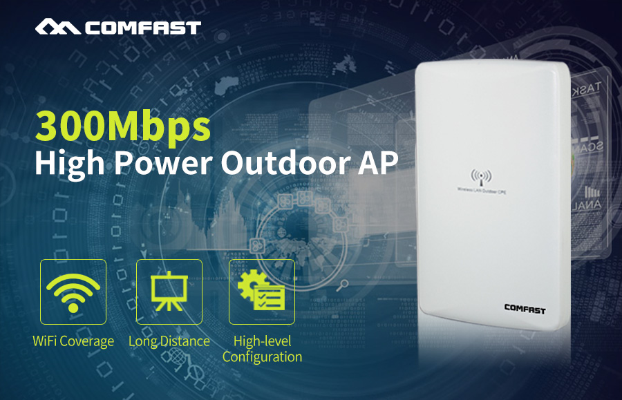 Wireless Outdoor CPE Comfast CF-WA300 WIFI Router 2KM Distance 300Mbps Wireless Access Point CPE Router With POE WIFI Bridge comfast ac200 orange os system full gigabit wifi control ac gateway routing wireless roaming wifi coverage project manager route