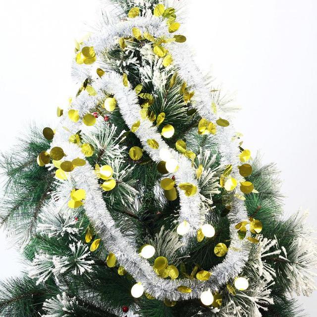 gold pink 220cm long christmas decorations christmas tree ornament christmas ribbon streamers