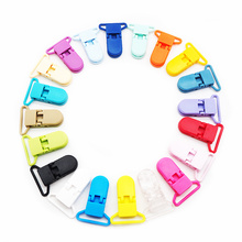 Chenkai 10PCS 25mm D-shape Baby Pacifier Clip Plastic Holder Dummy Clips Soother For Nipples