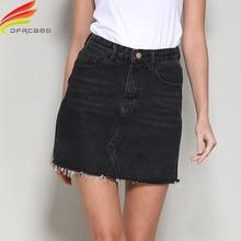 Streetwear A Line Denim Skirt Spring Summer 2020 Women New Blue Black Pockets High Waist Mini Jeans Skirt High Quality Skirts