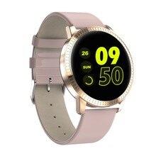 CF18 женские умные часы с монитором артериального давления и сердечного ритма, спортивные фитнес-трекер, умные часы для подключения Android Iphone