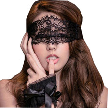 Black Sexy Lingerie Lace Mask Eye Masks And Sex Handcuffs For Party Nightclub Sex Erotic Toys Products For Sexy Women