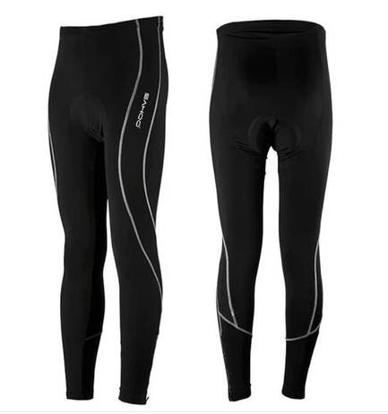 SAHOO Outdoor Women Men Cycling Running Long 3D Padded Bicycle Pants Stretch Tight Pants Compression Tights Size S-3XL