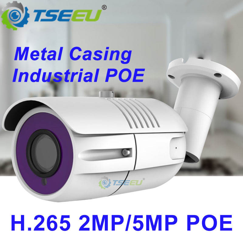 2 0MP 5MP H 265 Waterproof bullet POE IP Camera compatiable with Hikvision  NVR iVMS-4200 Dana APP