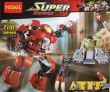 DECOOL Super Heroes Avengers Building Blocks Ultron Minifigures Iron Man Hulk Buster Bricks Action Mini Figures Compatible Legoe