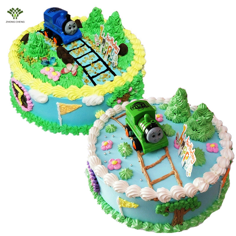 1PCS ThomasFriends Birthday Cake Topper Picks Inertia Thomas Train Gifts For Boy Baby Shower Party Supplies In Decorating
